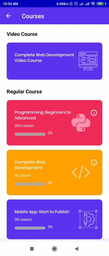 Programming hero courses